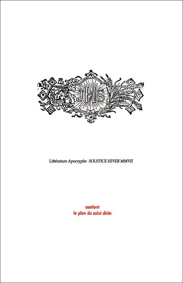 Publication JHS, Solstice Hiver MMVII