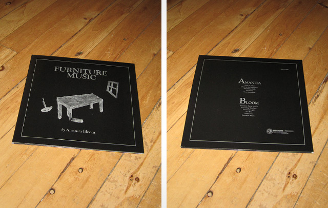 FURNITURE MUSIC by Amanita Bloom (cover & backcover)