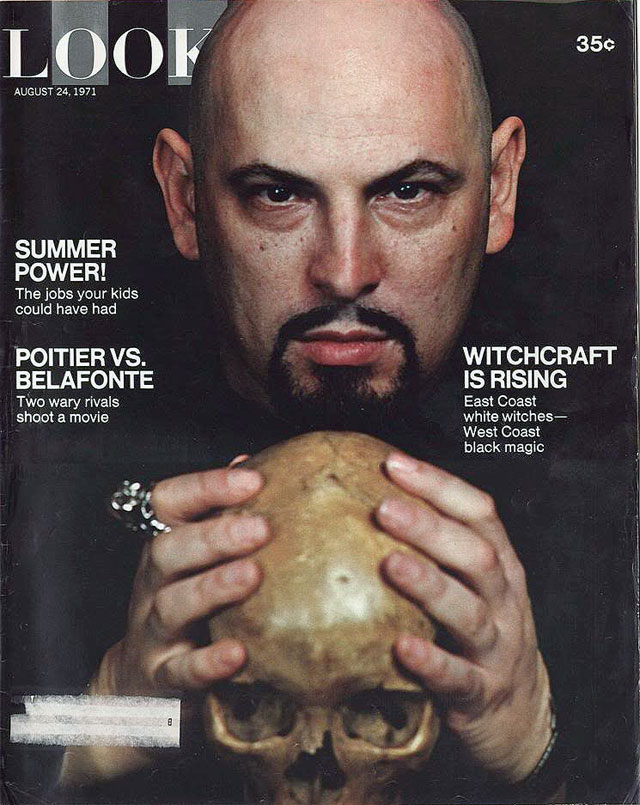 Anton S. Lavey on the cover of Look Mgazine, 08.24.1971