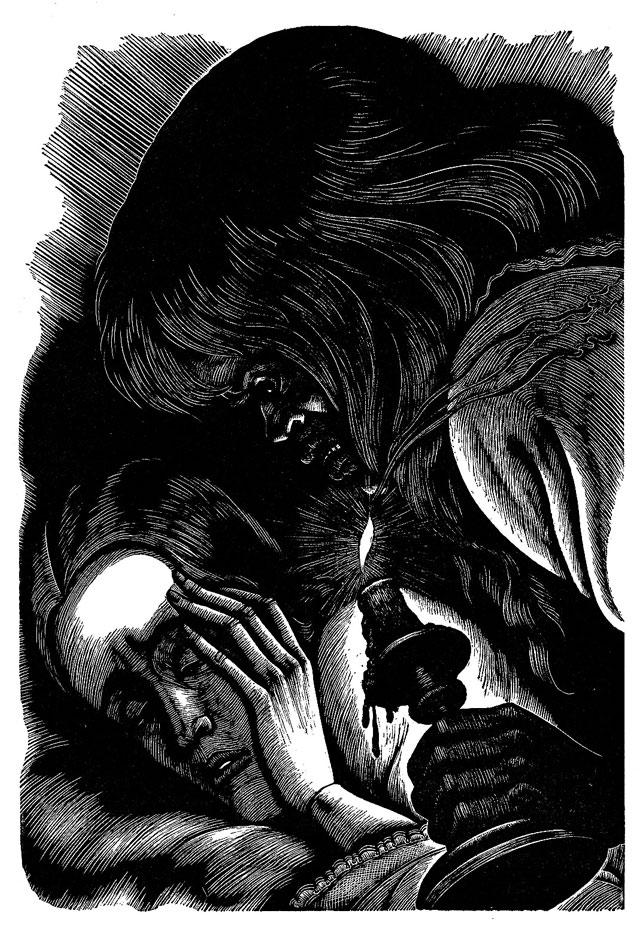 Illusration de Fritz Eichenberg pour 'Jane Eyre' de Charlotte Bronte