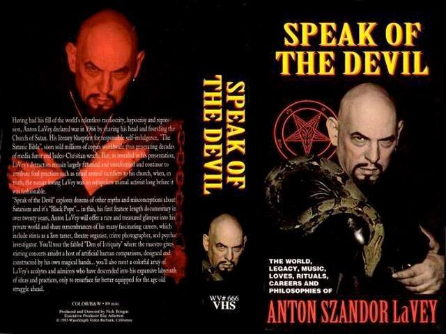 SPEAK OF THNE DEVIL (1995) by Nick Bougas & Adam Parfrey