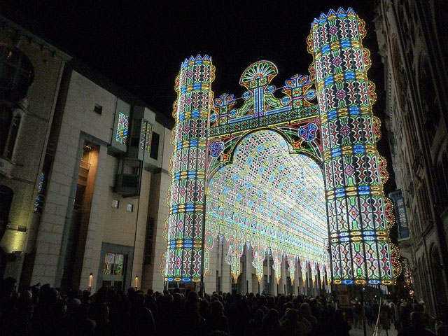 The Luminarie De Cagna at the 2012 Light Festival in Ghent, Belgium