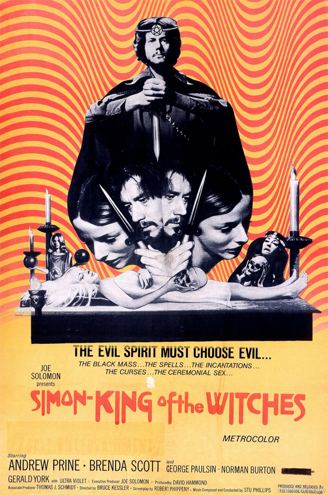 Simon King of Witches (1971) by BRUCE KESSLER (poster)