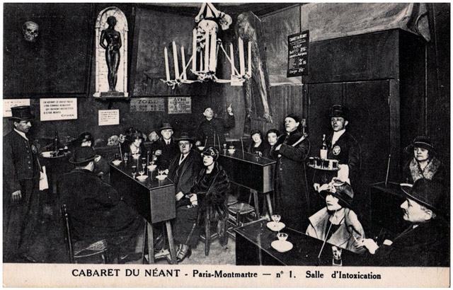 CABARET DU NÉANT nightclub (Paris Circa 1890s)