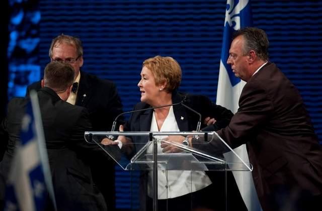 Pauline Marois le 4 septembre 2012 au Métropolis, Montréal p.Q.