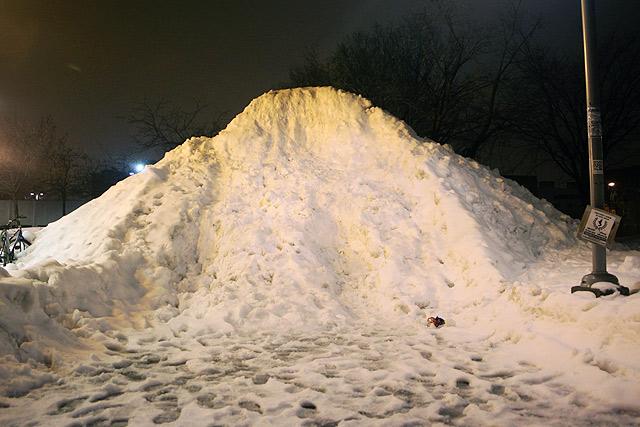 Un banc de neige