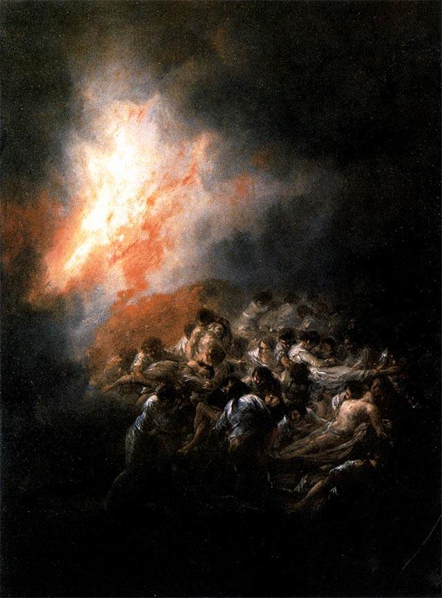 Fuego en la Noche (1794) GOYA