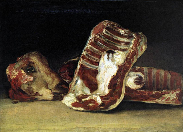 Head and Quarters of a Dissected Ram (1812) GOYA