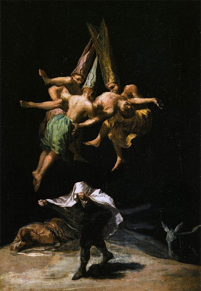 Las brujas en el aire (1797) GOYA
