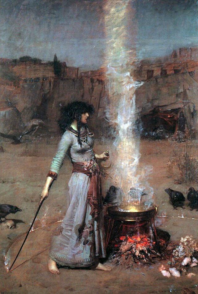 John William Waterhouse, The Magic Circle, 1886, © Tate, London, Oil paint on canvas 1829 x 1270 mm