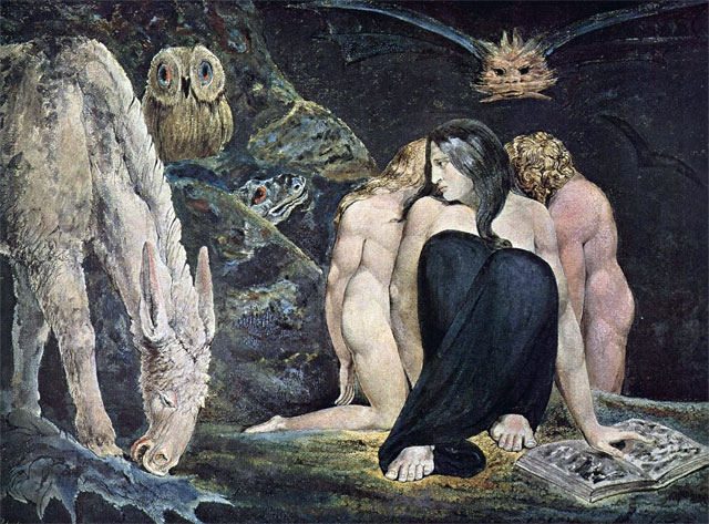 The Triple Hecate c 1795, William Blake, Polytype on paper 41.60 x 56.10 cm, © National Galleries of Scotland