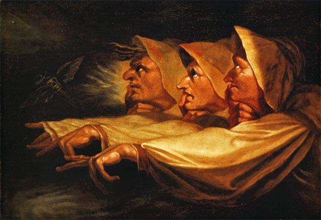 Henry Fuseli, Three Weird Sisters from Macbeth, 1785, Mezzotint on paper 457 mm × 558 mm, © British Museum