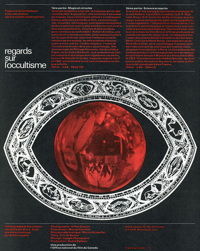 Regards sur l'occultisme (1965) de GUY L. CÔTÉ (poster)