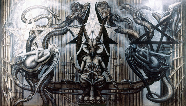 'The Spell IV' Painting by H.R. Giger