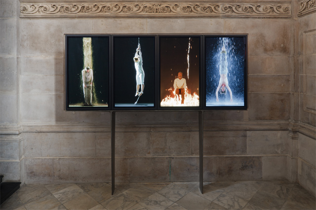 BILL VIOLA latest installation Martyrs (Earth, Air, Fire, Water) is now on permanent display at St Paul's Cathedral. Photo Peter Mallet