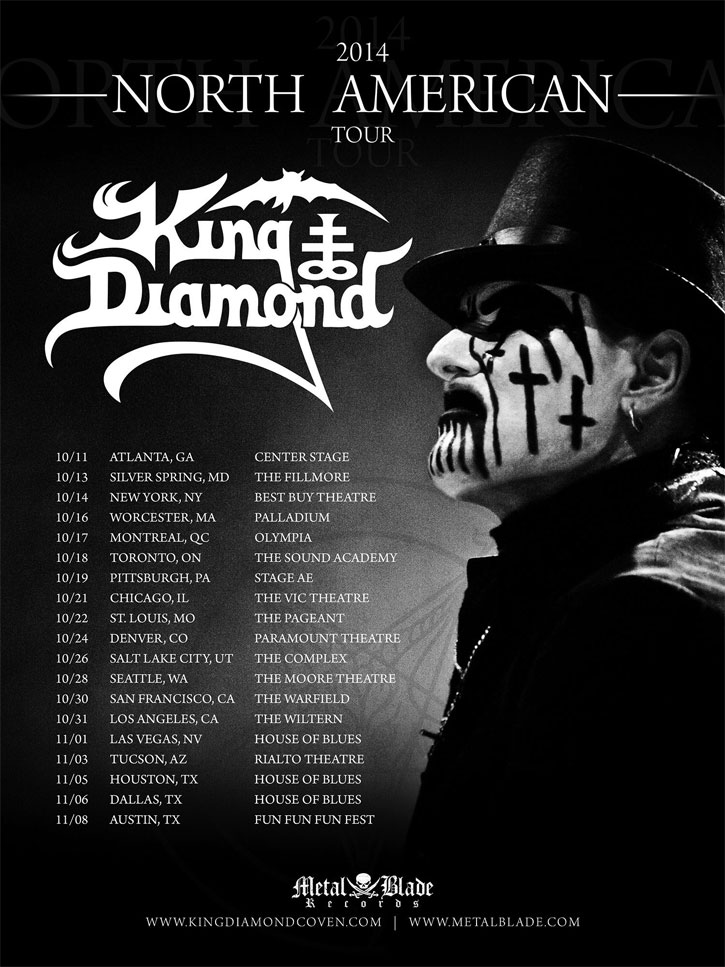 KING DIAMOND North American tour 2014
