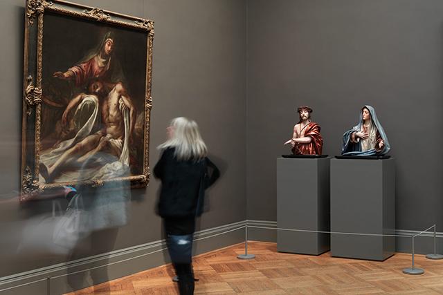"""""""Ecce Homo"""" and """"Mater Dolorosa"""" (1674-85) by PREDRO DE MENA"""