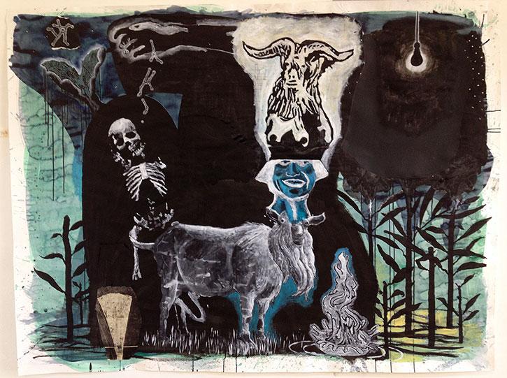 DAMIEN DEROUBAIX, Le chapeau, 2013, 150 x 200 cm