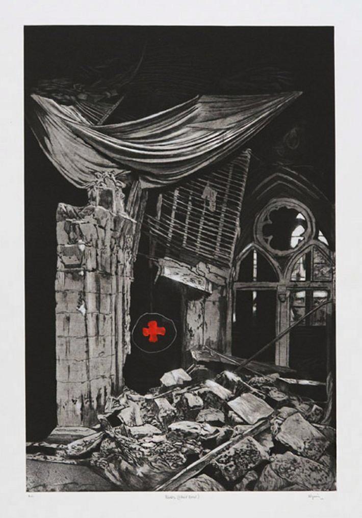 MARC SÉGUIN 'Ruine - croix rouge' (2010)