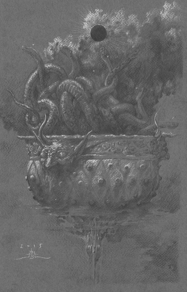 DAVID S. HERRERIAS 'Study of the Chalice of Revelation' (2015) 20 x 31cm