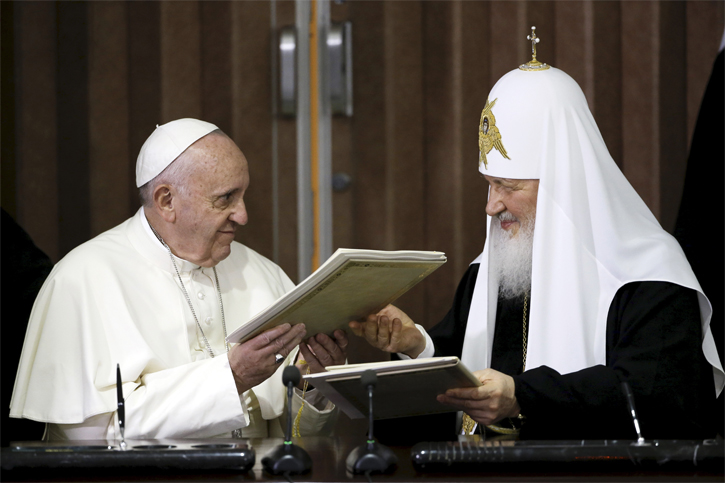 Pope Francis and Russian Patriarch Kirill