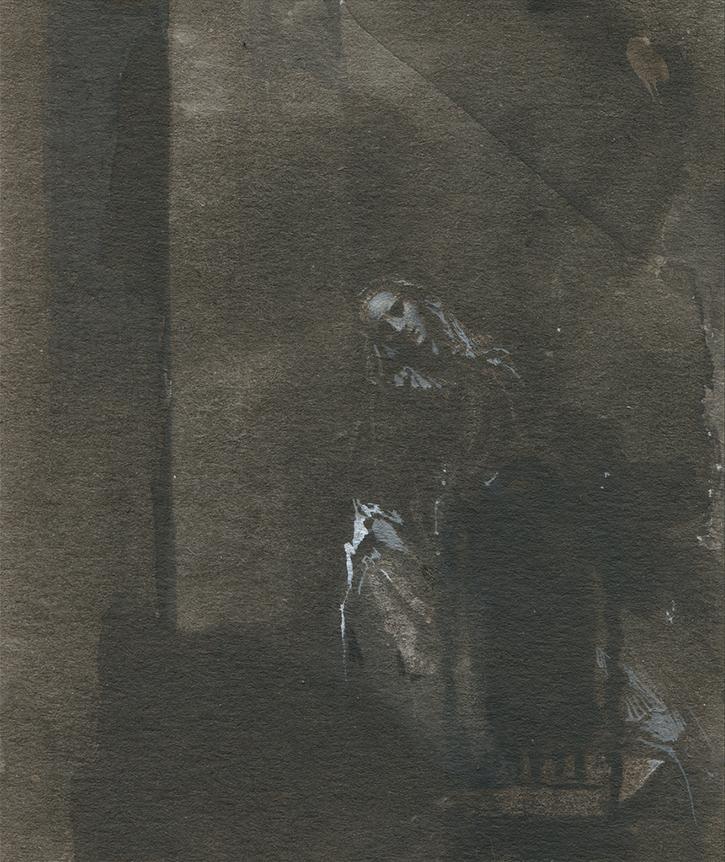 NATALIA SMIRNOVA 'Sketch' tempera 10/8sm