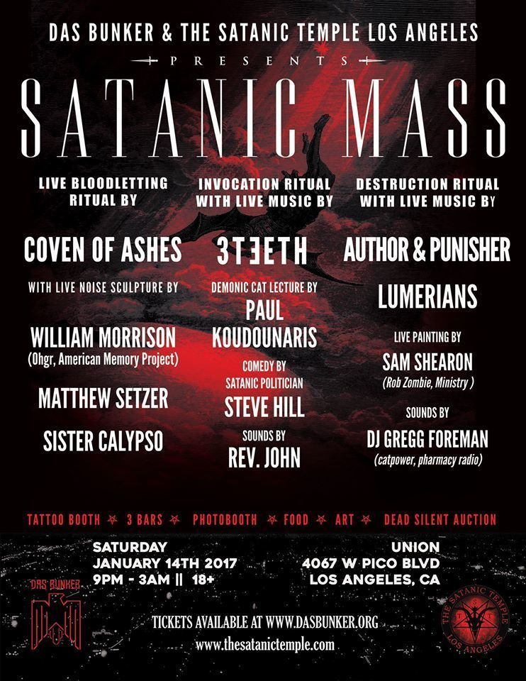 SATANIC MASS in Los Angeles, January 14th, 2017