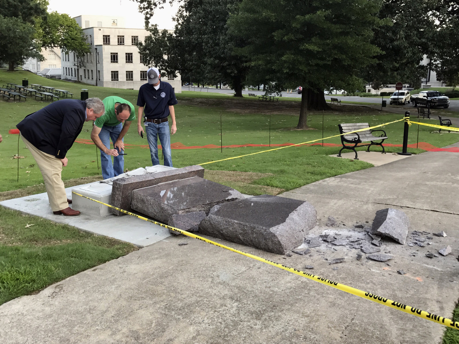 Arkansas' Ten Commandments Monument Lasted Less Than 24 Hours, Laurel Wamsley, NPR, June 28, 2017