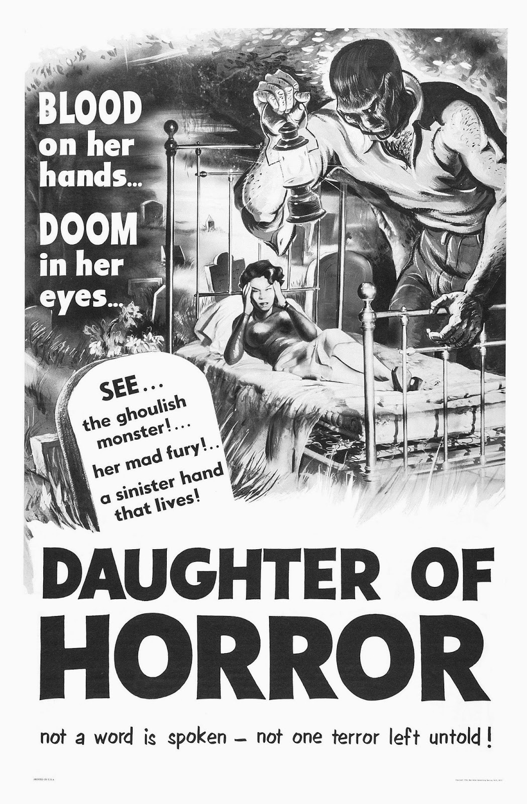 Daughter of Horror (1955) by JOHN PARKER