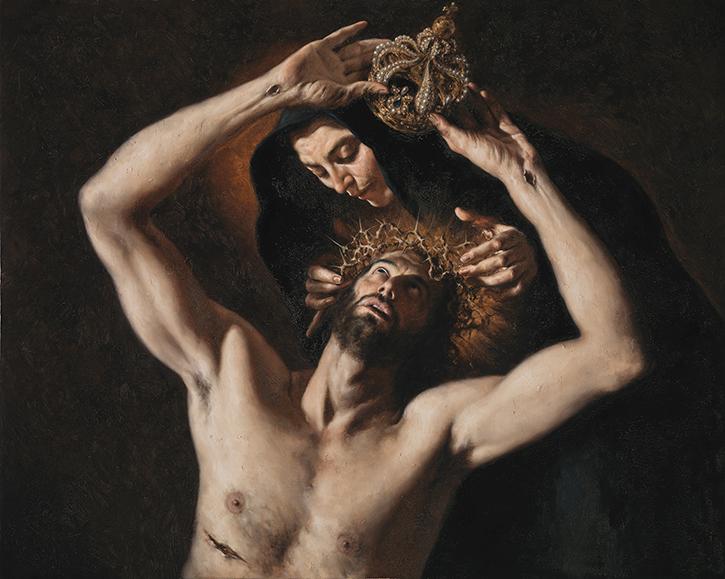 GIOVANNI GASPARRO 'Corredenzione', Olio su tela, 80 x 100 cm, 2015. Bari, Collezione privata. Image copyright © Archivio dell'Arte / Luciano Pedicini