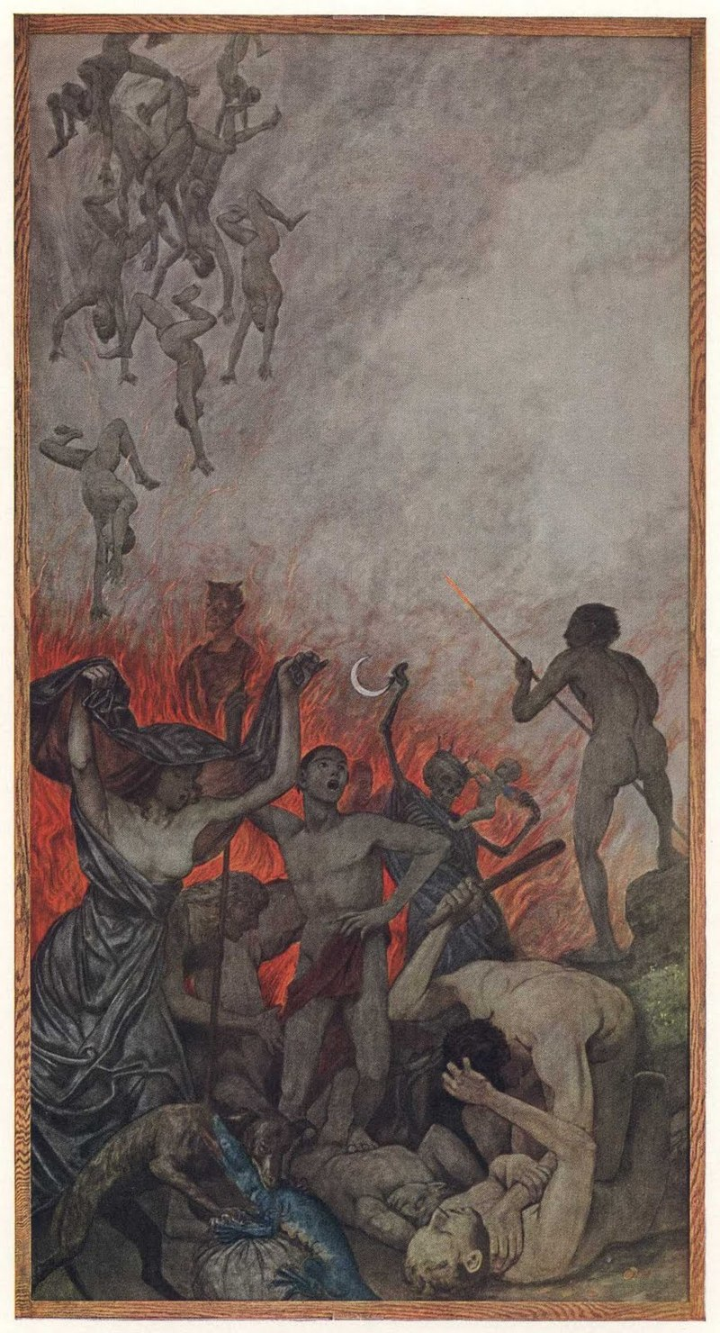 HANS THOMA (October 2, 1839 – November 7, 1924) 'The Hell'