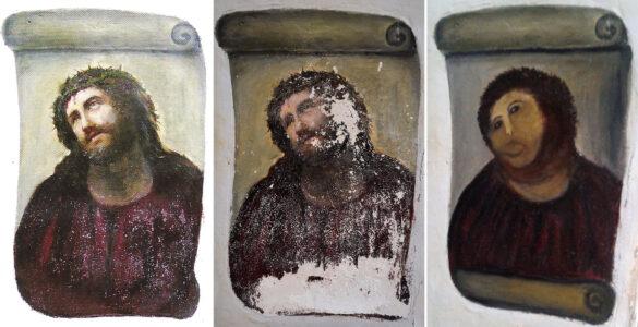 Elías García Martínez, Ecce Homo (1930), and Cecilia Giménez's infamous 2012 restoration attempt