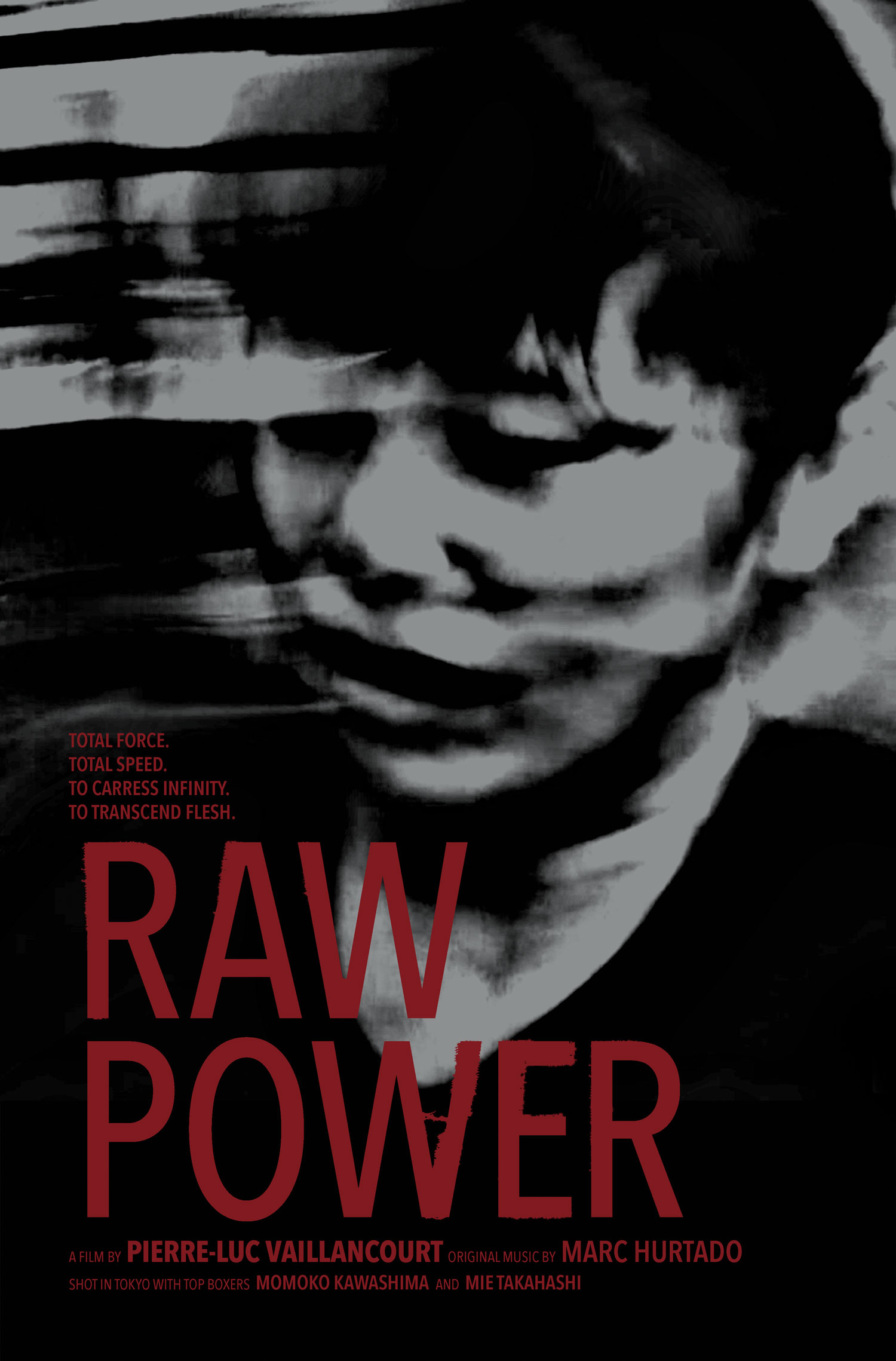 Proposition d'affiche pour le film Raw Power (2020) du réalisateur PIERRE-LUC VAILLANCOURT